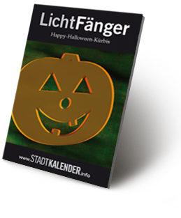 russigdesign Werbeagentur in Beckum – Happy-Halloween-Kürbis als LichtFänger